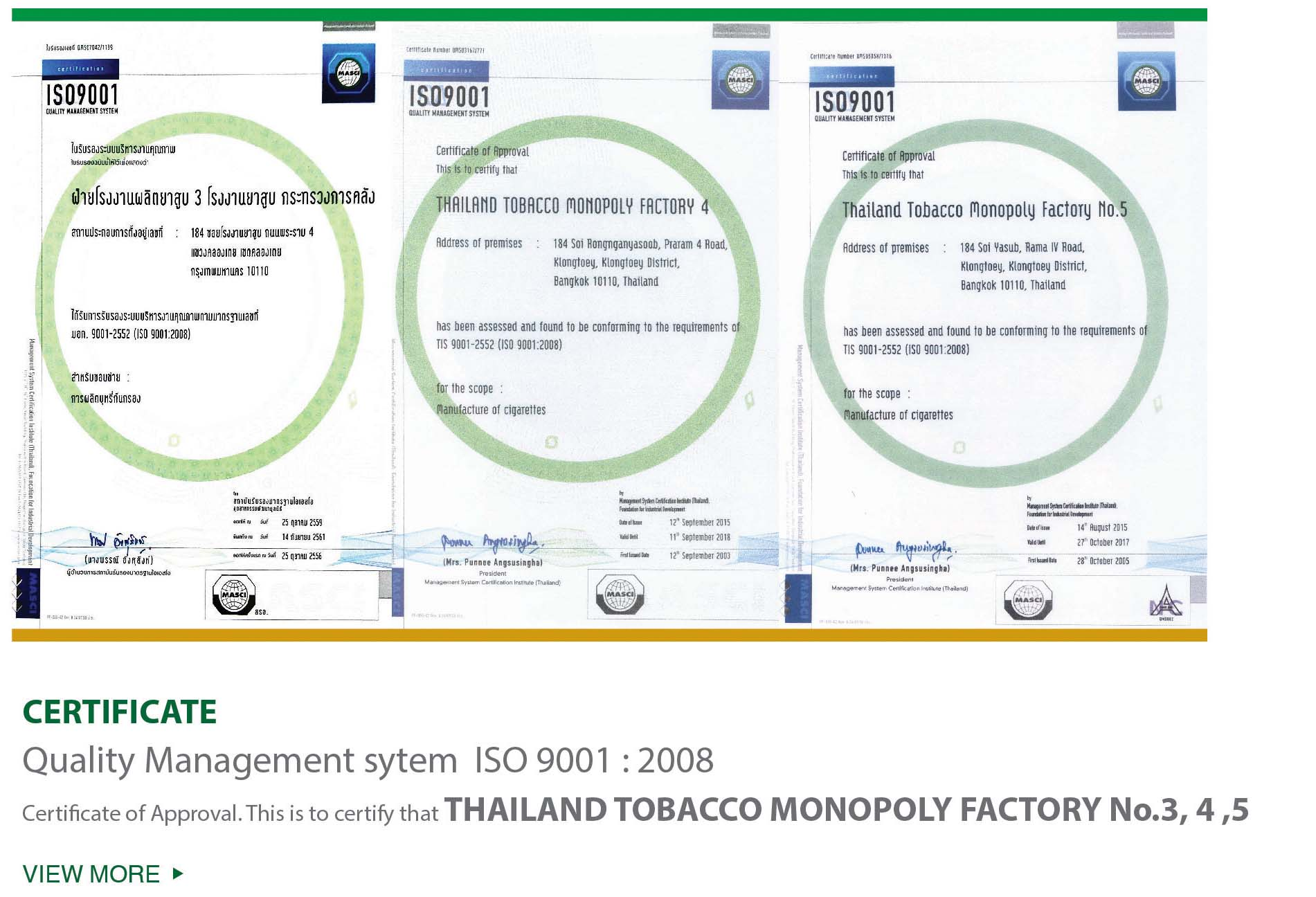Safety Occupational Health and Environment Management : CIGARETTES